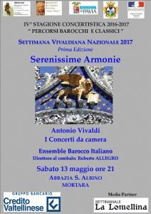 Sabato 13 maggio 2017 alle ore 21 a Palazzo Cambieri a Mortara