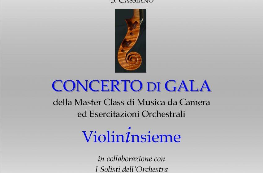 CONCERTO di GALA degli ALLIEVI della MASTER CLASS di MUSICA da CAMERA ed ESERCITAZIONI ORCHESTRALI dell'ACCADEMIA MUSICALE S.CASSIANO