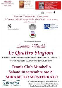 I CONCERTI DELLAMONTAGNA E DEL MARE 2016 XII° EDIZIONE Note Vivaldiane in Monferrato.