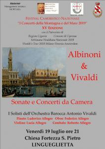 """ALBINONI & VIVALDI. Sonate e Concerti da Camera I Solisti dell'Orchestra da Barocca """"Antonio Vivaldi"""""""